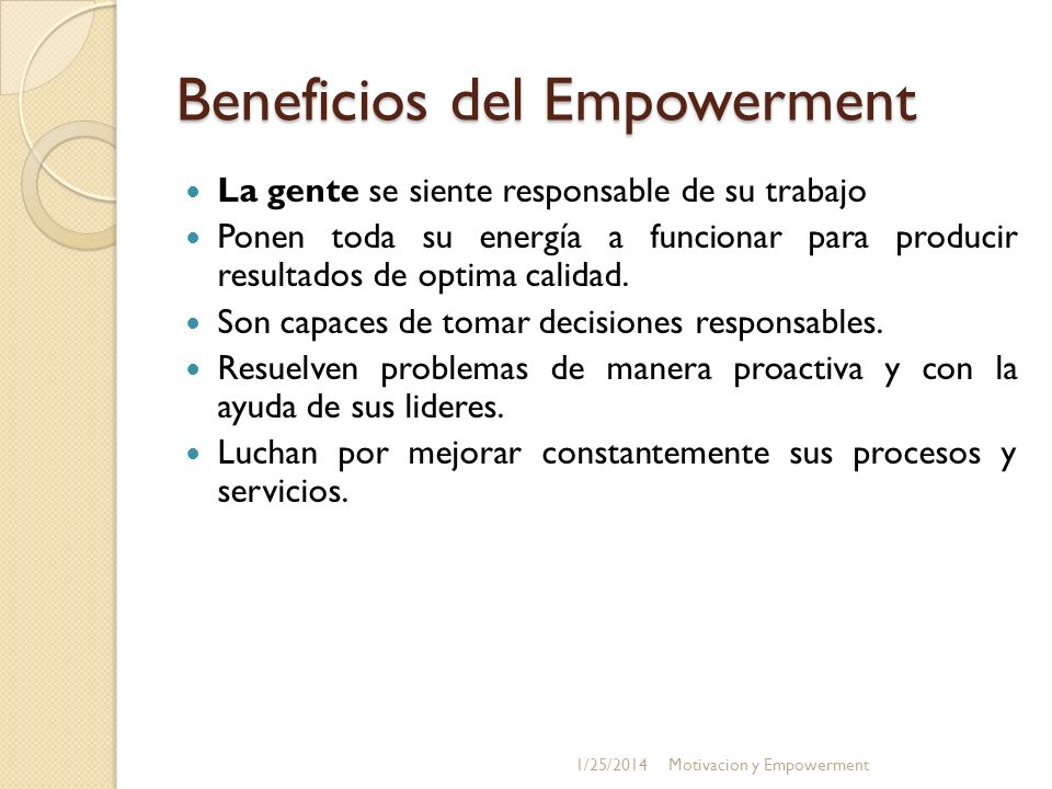 Beneficios del Empowerment