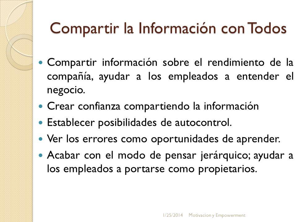 Compartir la Información con Todos