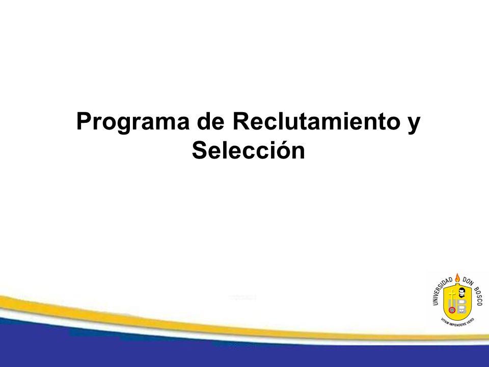 Programa de Reclutamiento y Selección