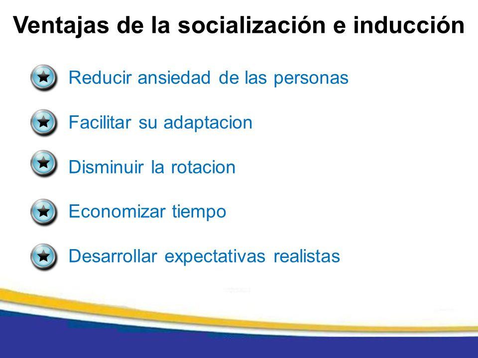 Ventajas de la socialización e inducción