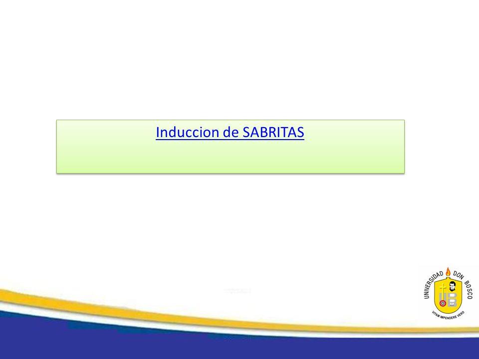 Induccion de SABRITAS