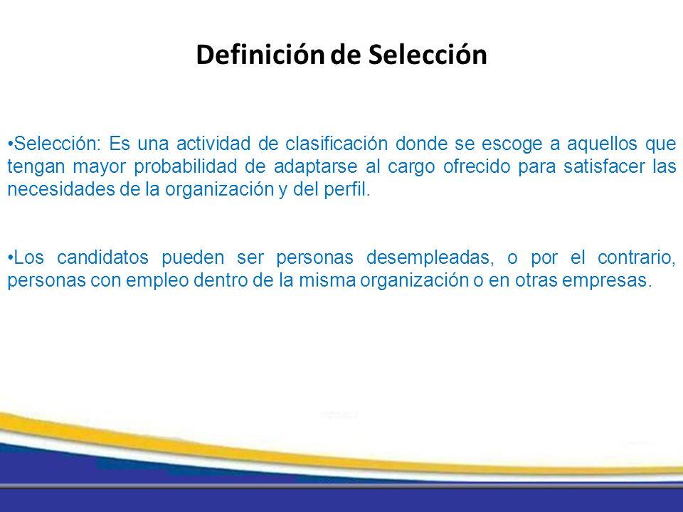 Definición de Selección
