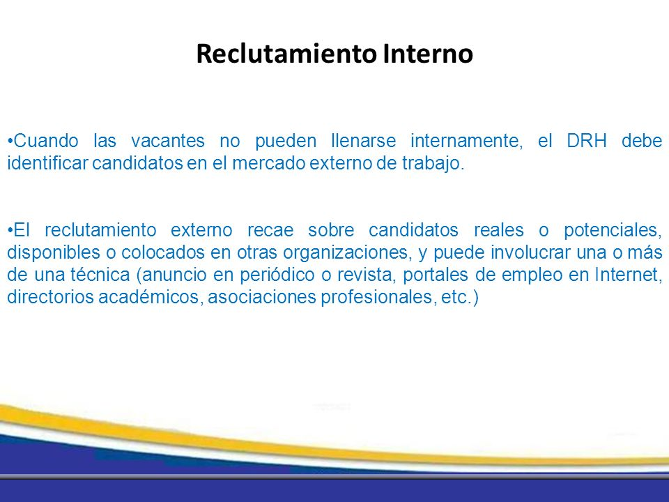 Reclutamiento Interno
