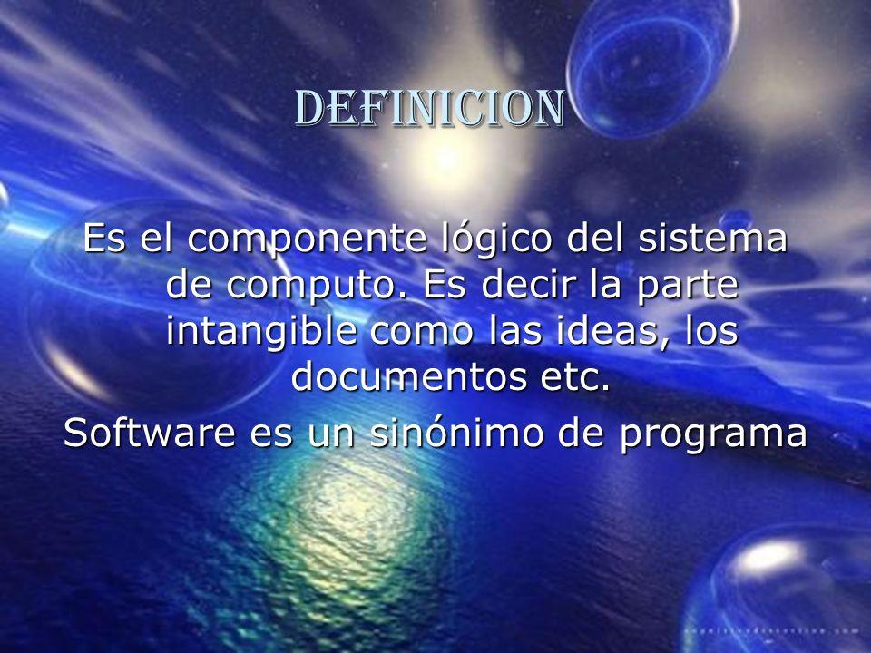 Software es un sinónimo de programa