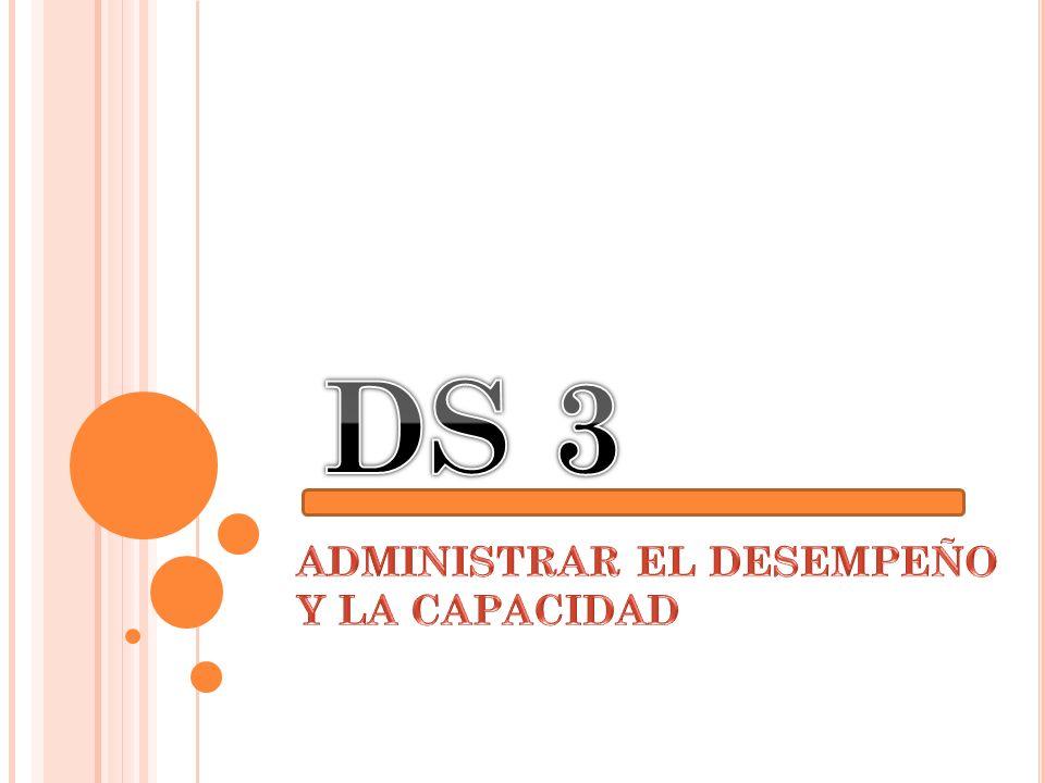 ADMINISTRAR EL DESEMPEÑO Y LA CAPACIDAD