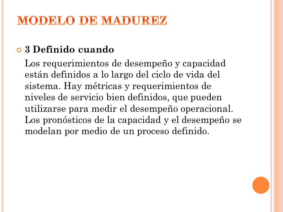 MODELO DE MADUREZ 3 Definido cuando