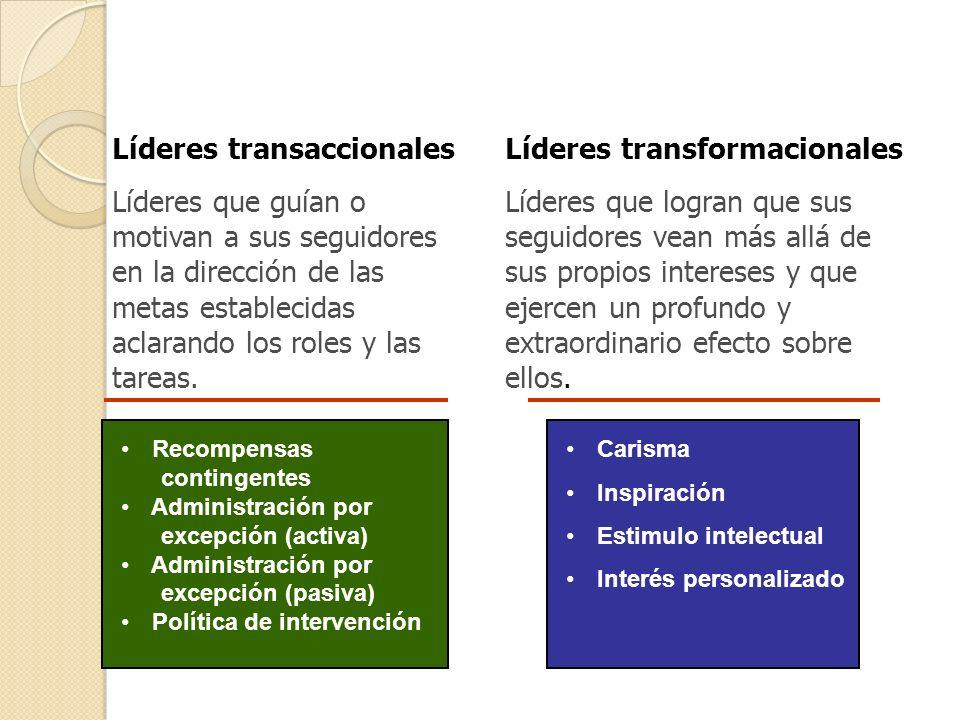 Líderes transaccionales