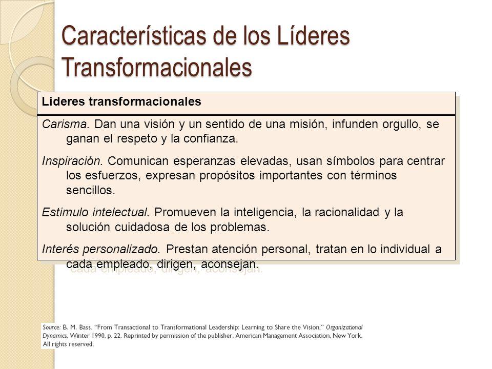 Características de los Líderes Transformacionales