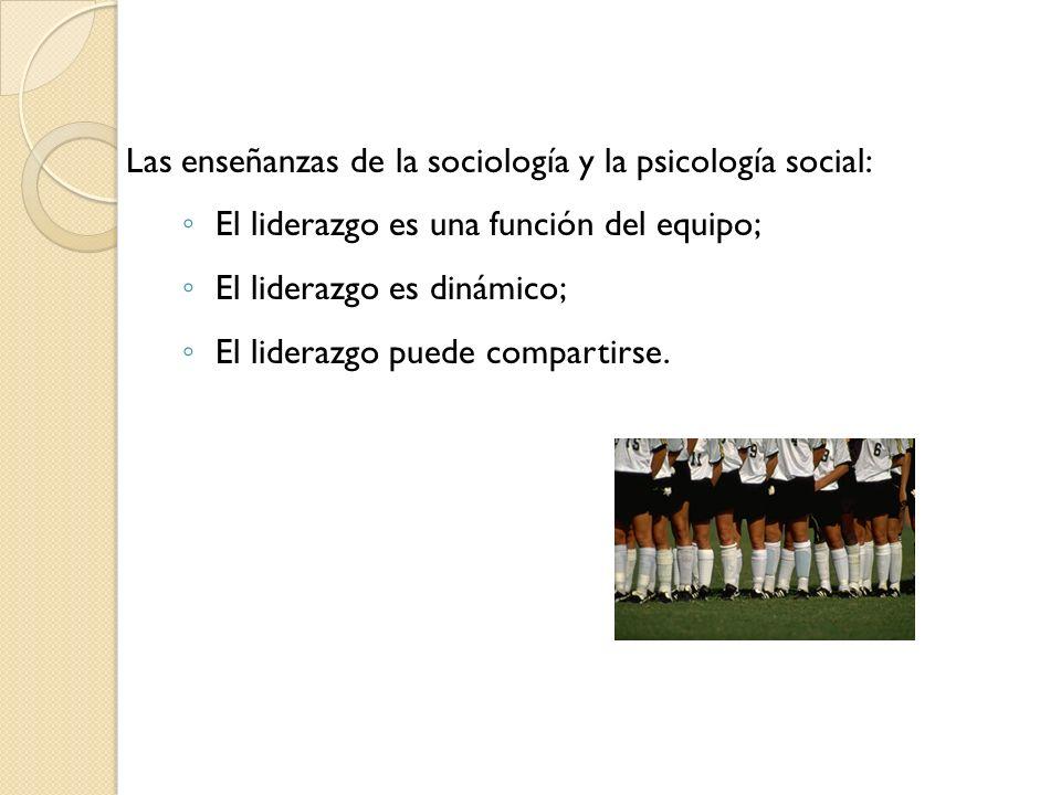 Las enseñanzas de la sociología y la psicología social: