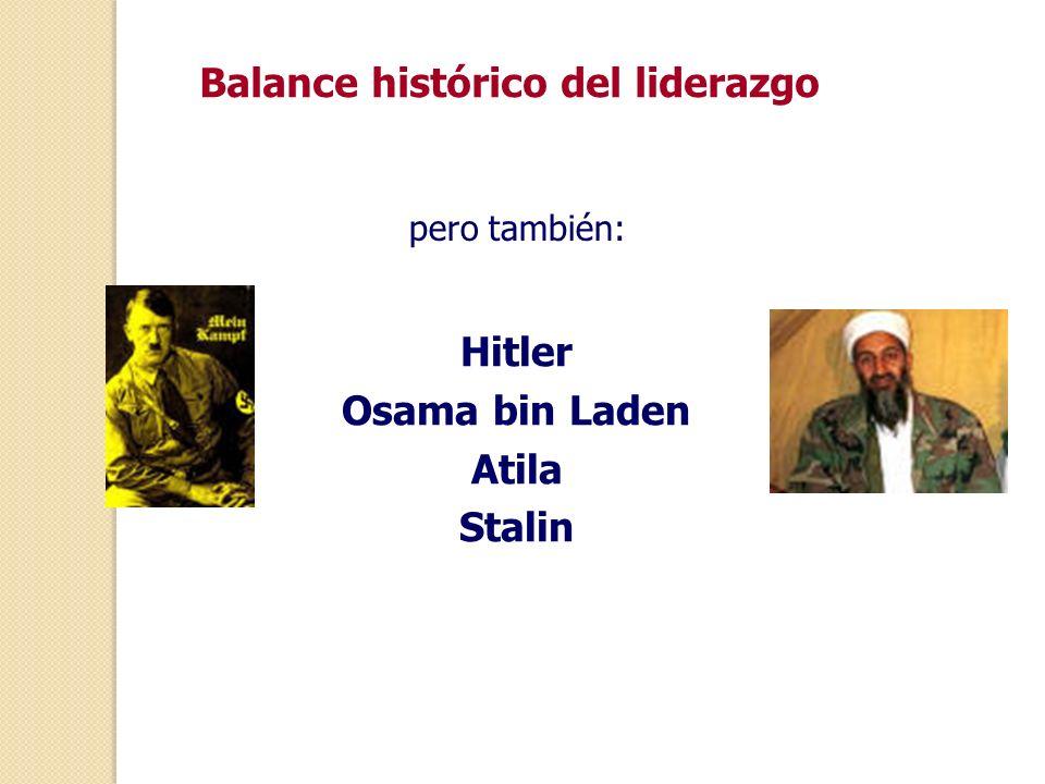 Balance histórico del liderazgo
