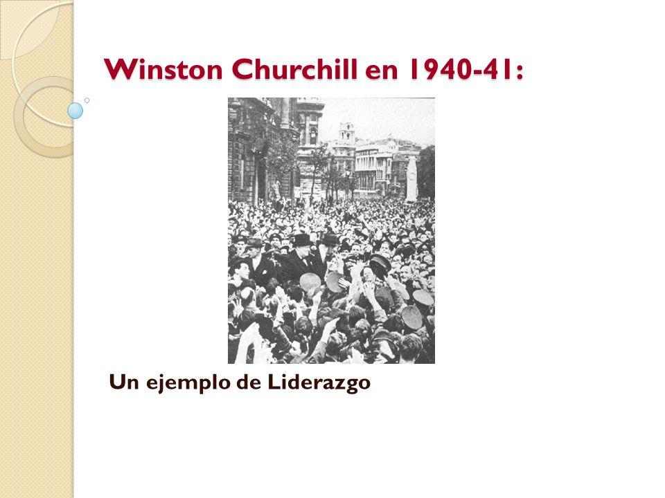 Winston Churchill en 1940-41: