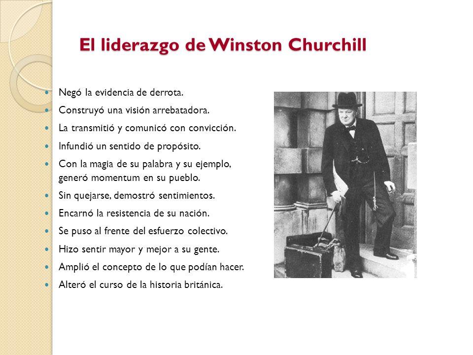 El liderazgo de Winston Churchill