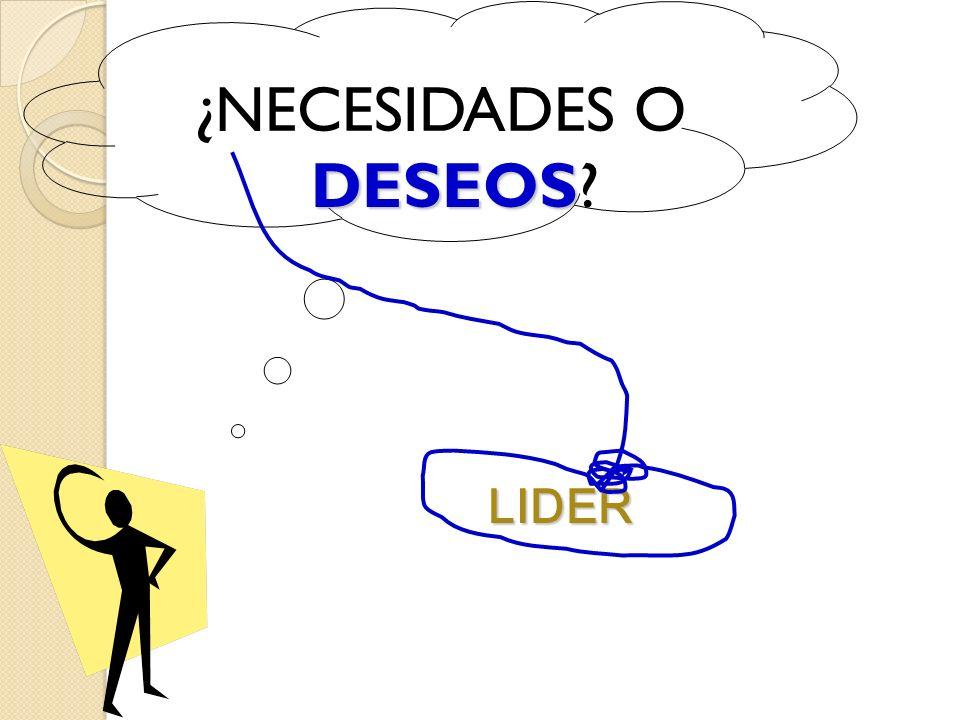 ¿NECESIDADES O DESEOS LIDER