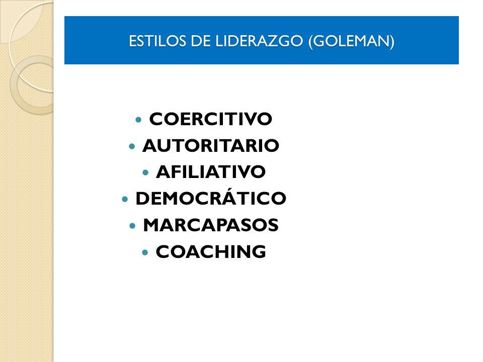 ESTILOS DE LIDERAZGO (GOLEMAN)