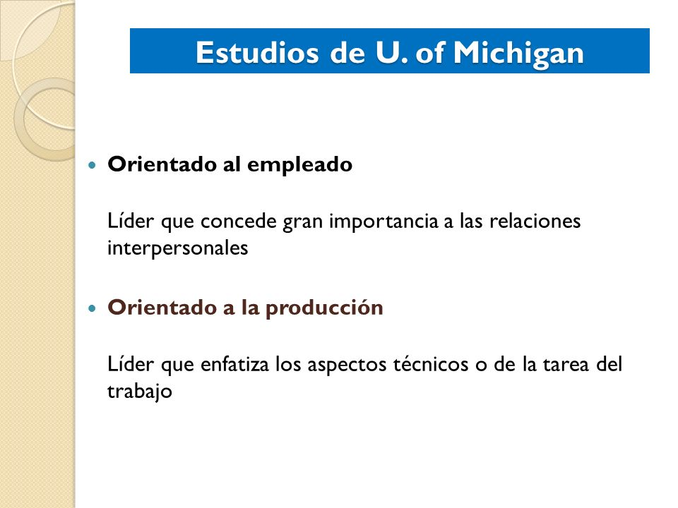 Estudios de U. of Michigan