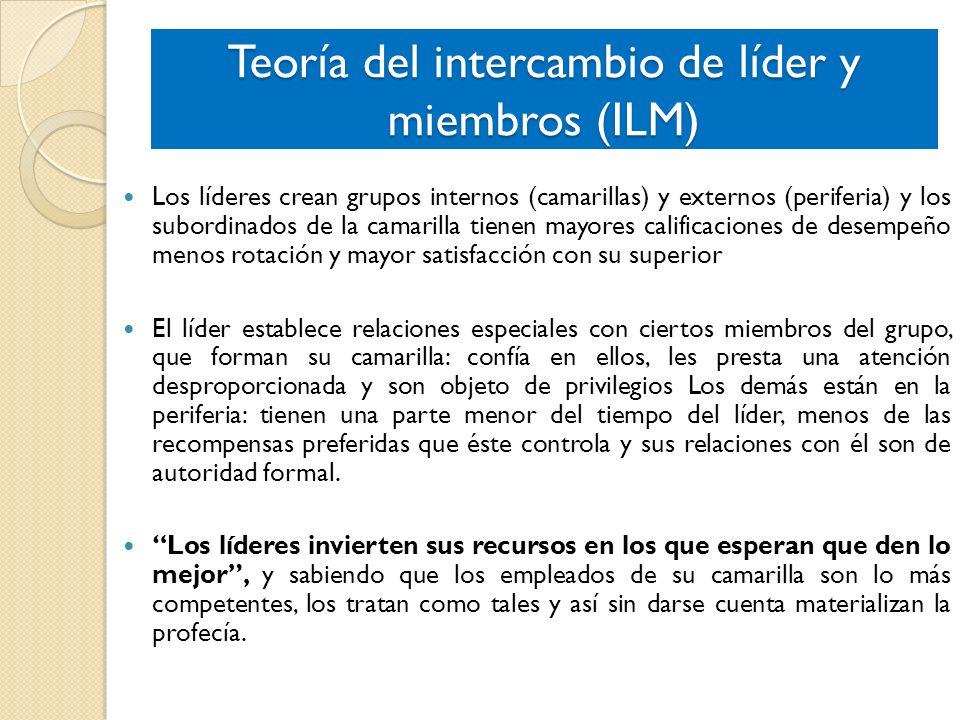 Teoría del intercambio de líder y miembros (ILM)