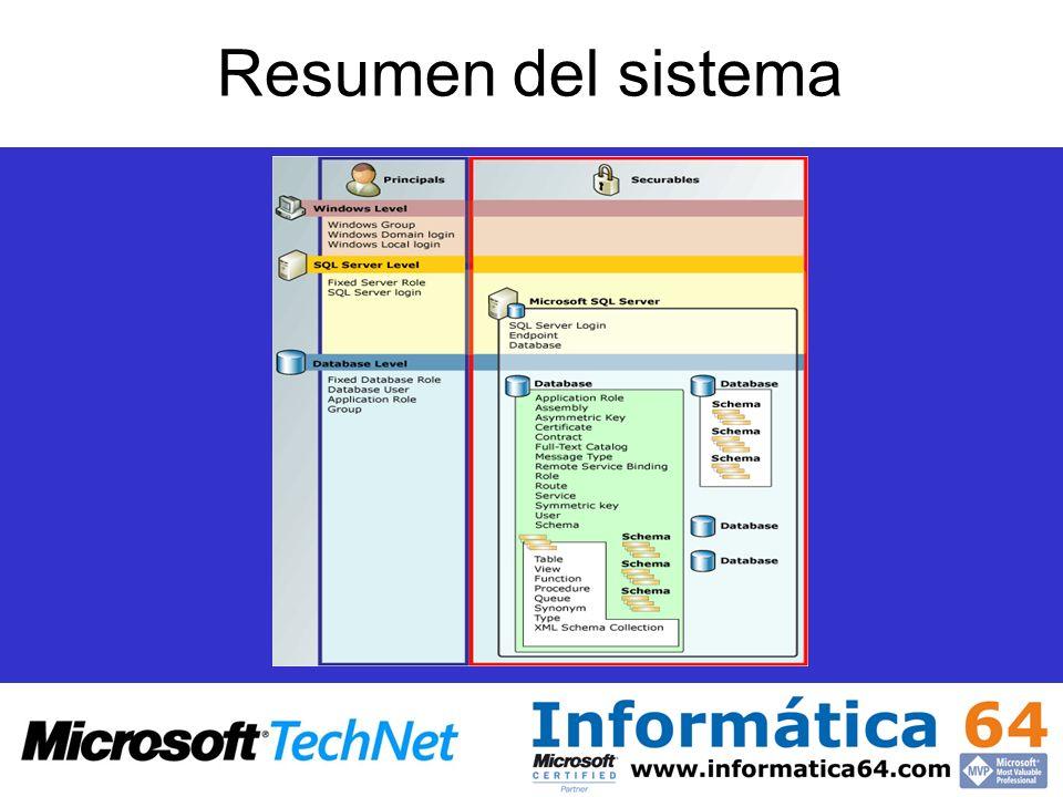 Resumen del sistema