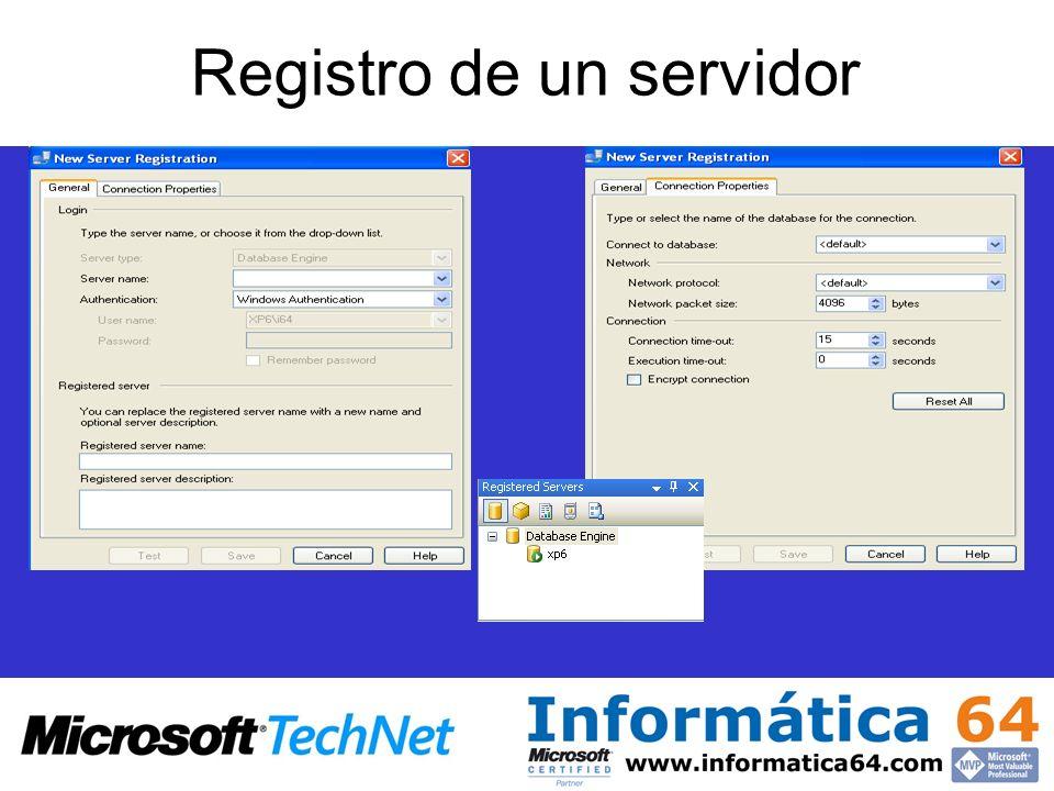 Registro de un servidor