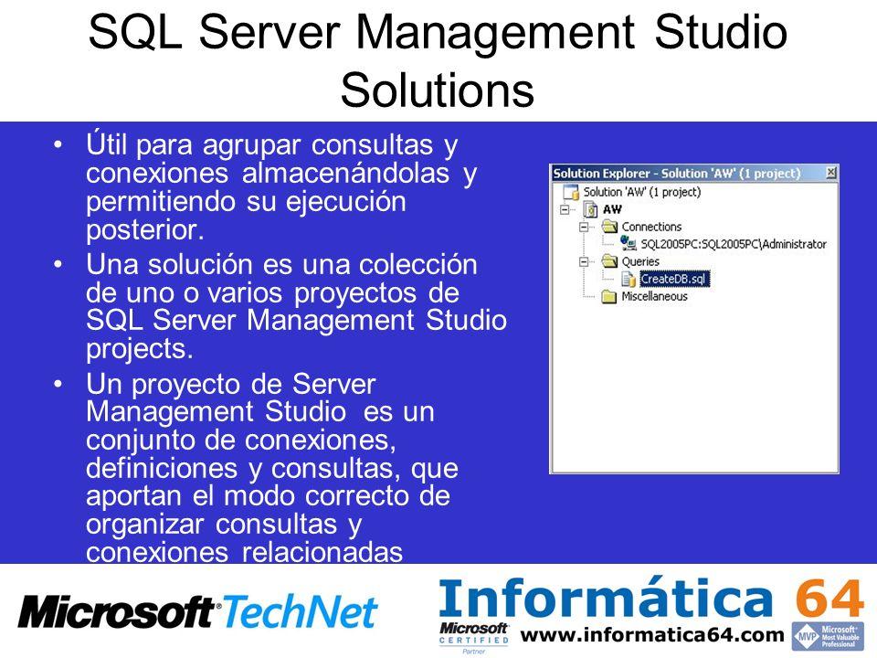 SQL Server Management Studio Solutions