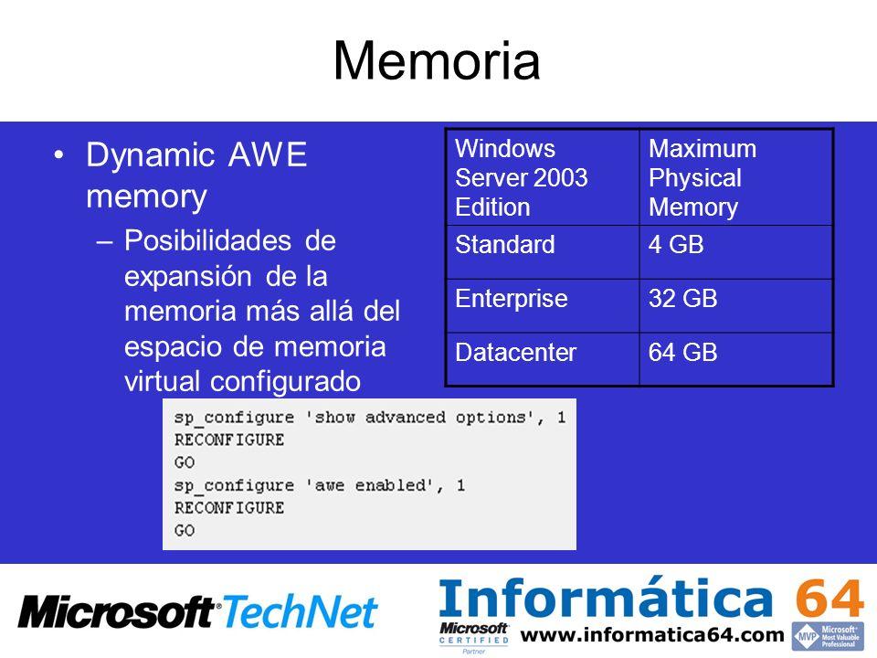 Memoria Dynamic AWE memory