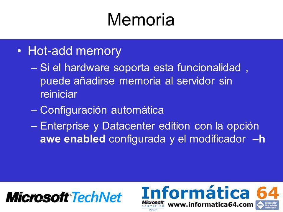 Memoria Hot-add memory