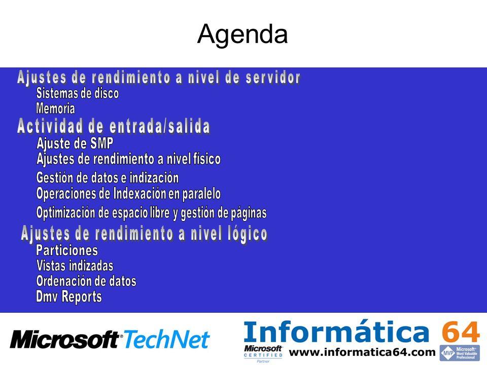 Agenda Ajustes de rendimiento a nivel de servidor