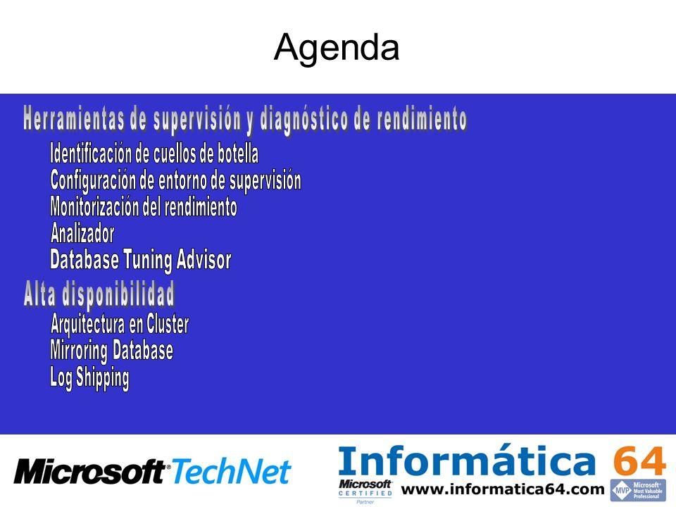 Agenda Herramientas de supervisión y diagnóstico de rendimiento