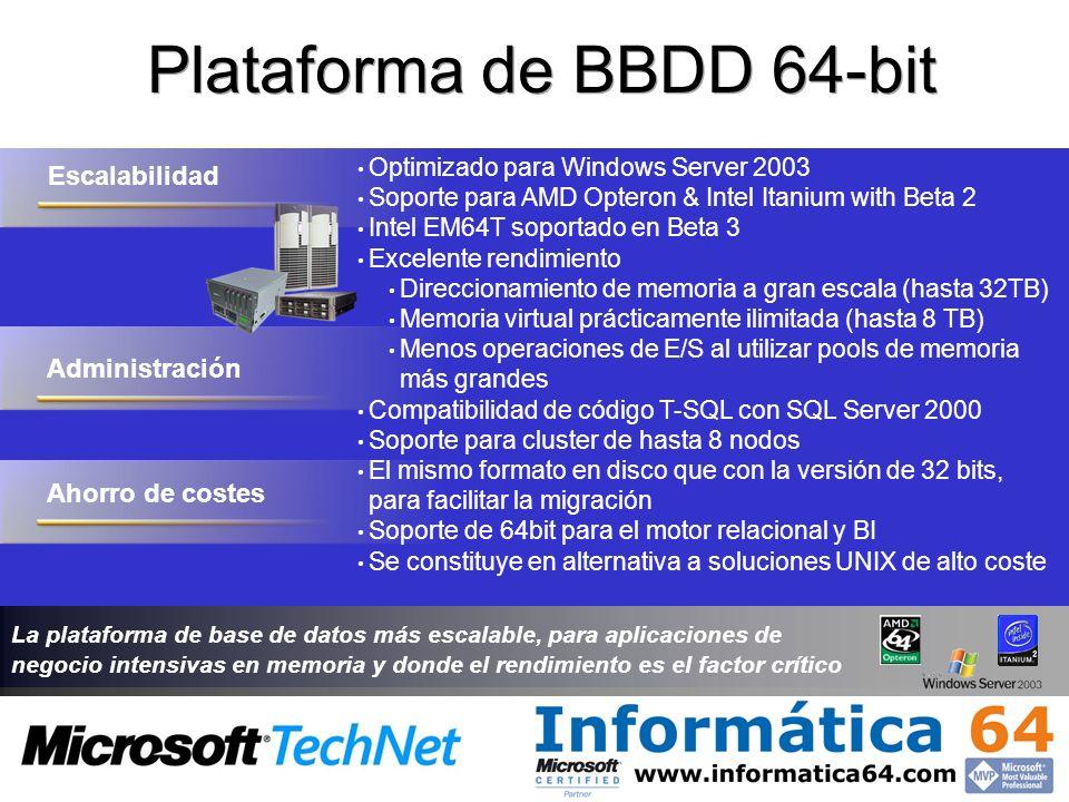 Plataforma de BBDD 64-bit