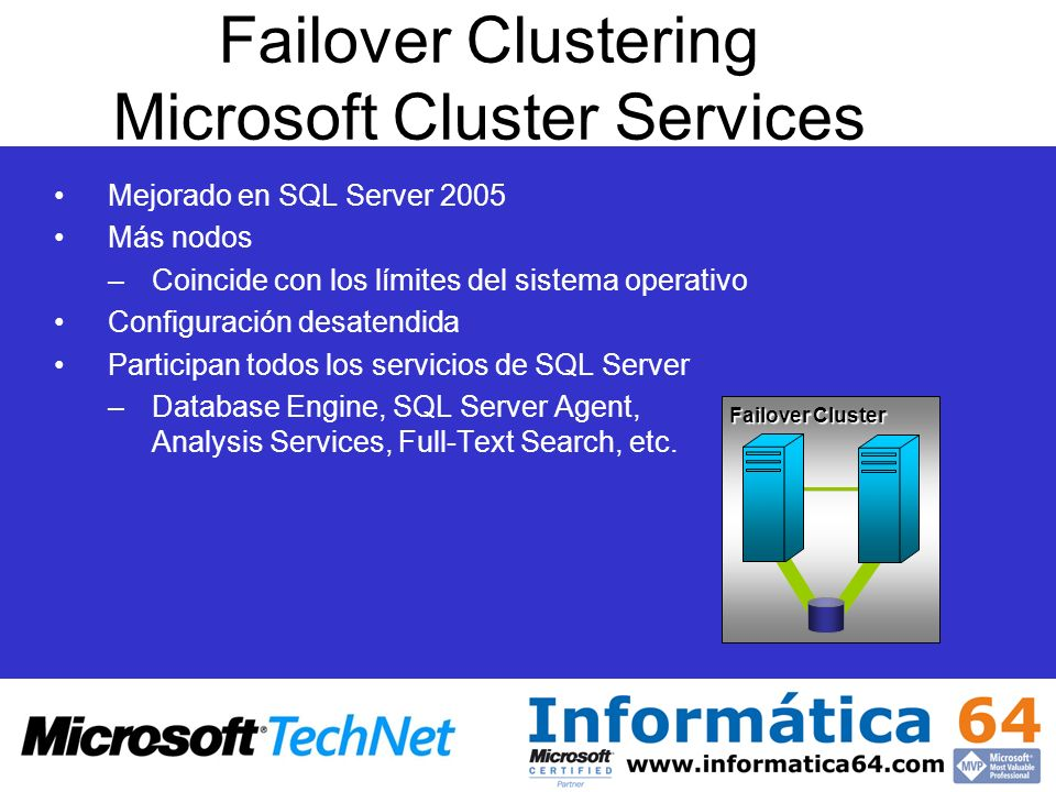Failover Clustering Microsoft Cluster Services