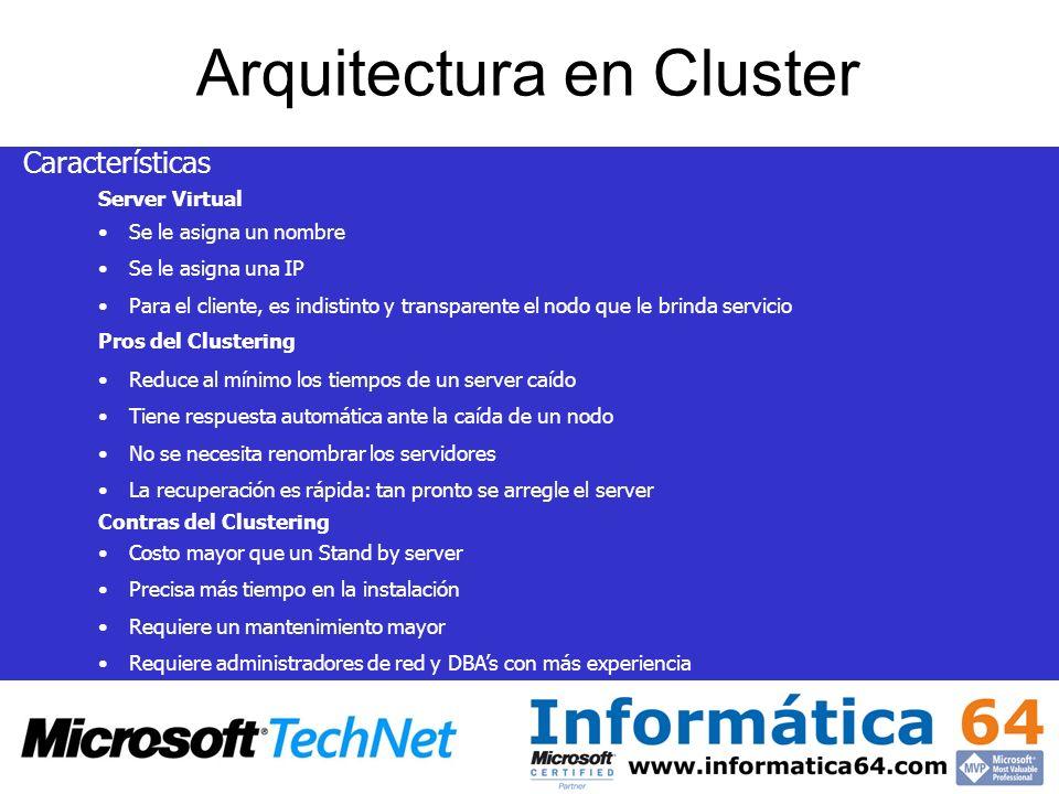 Arquitectura en Cluster