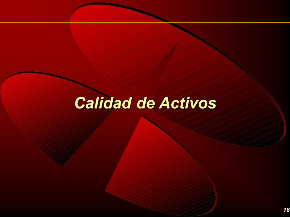 Calidad de Activos Regarding the asset quality.