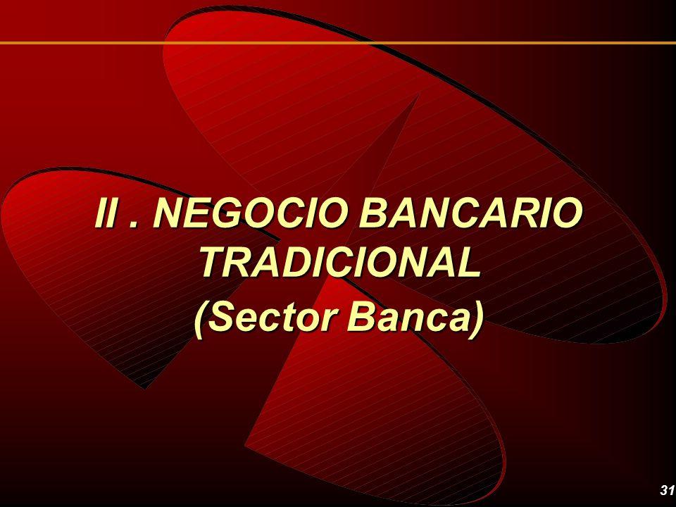 II . NEGOCIO BANCARIO TRADICIONAL