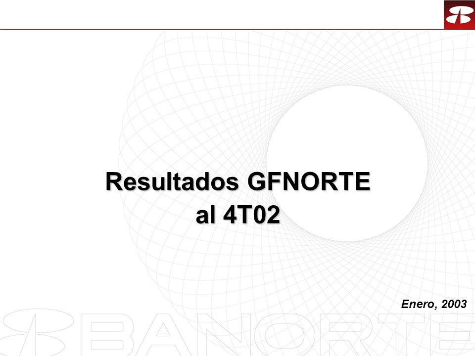 Resultados GFNORTE al 4T02