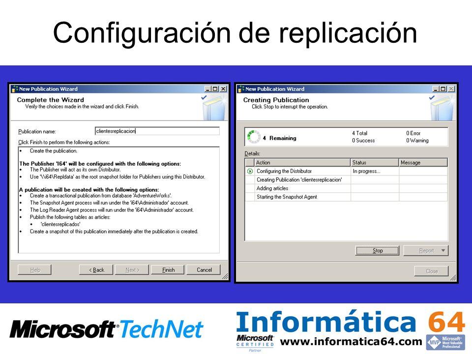 Configuración de replicación