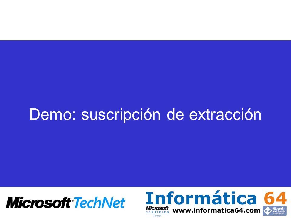 Demo: suscripción de extracción