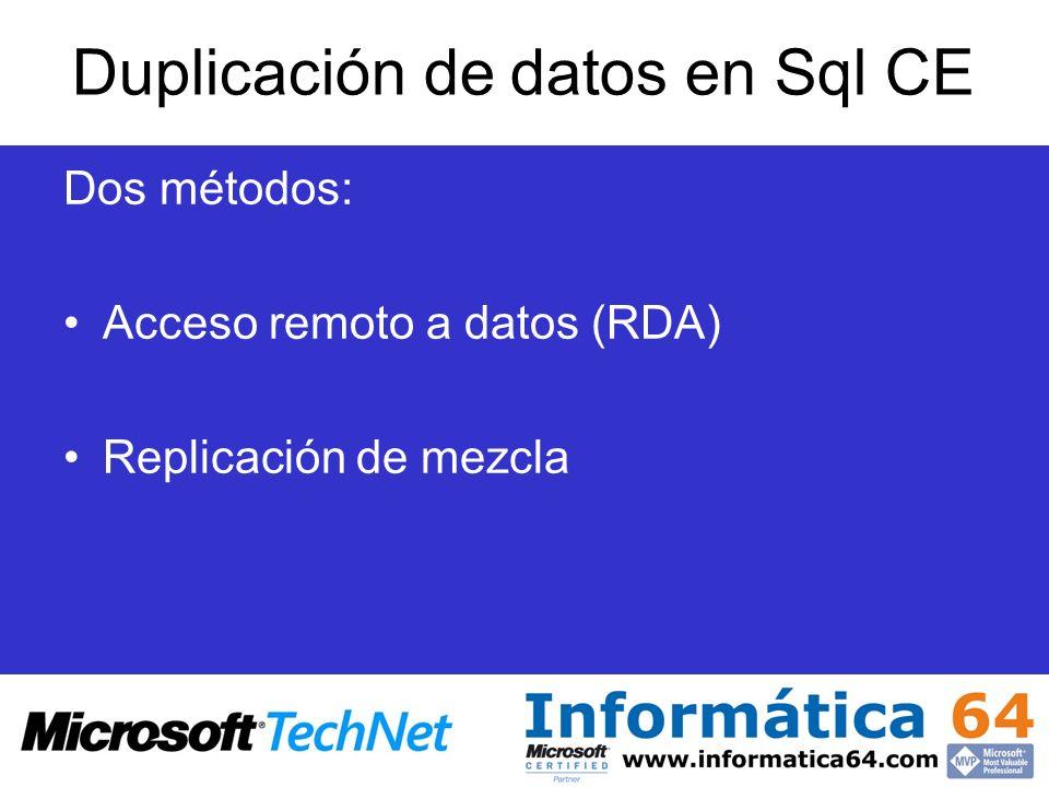 Duplicación de datos en Sql CE