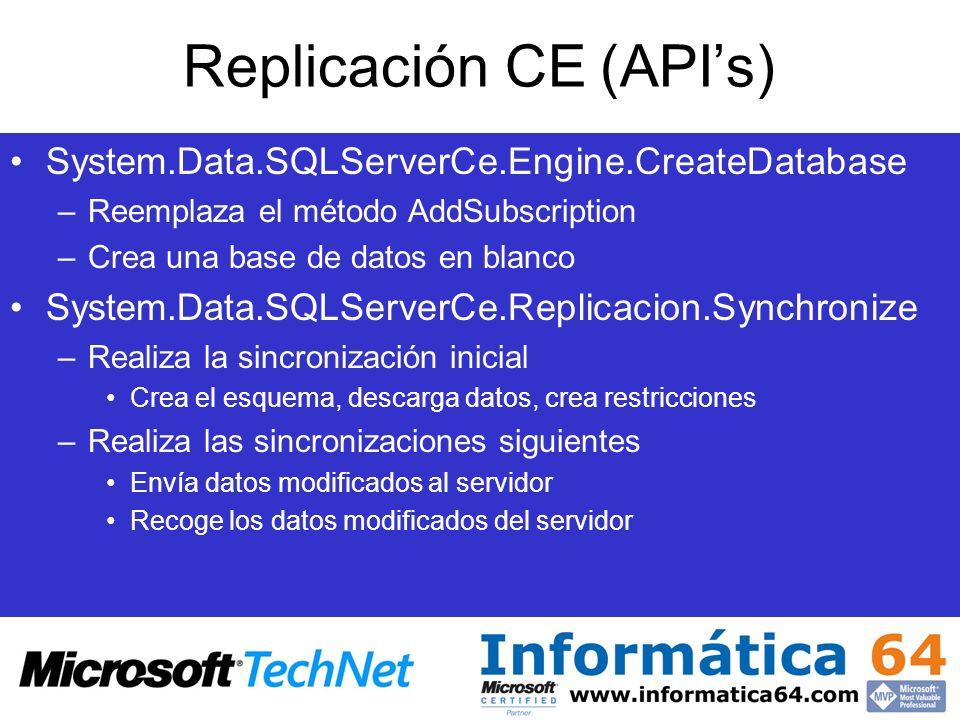 Replicación CE (API's)