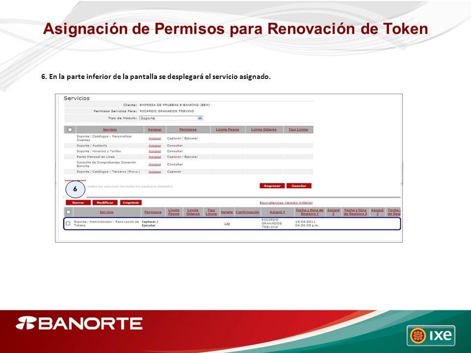 Asignación de Permisos para Renovación de Token