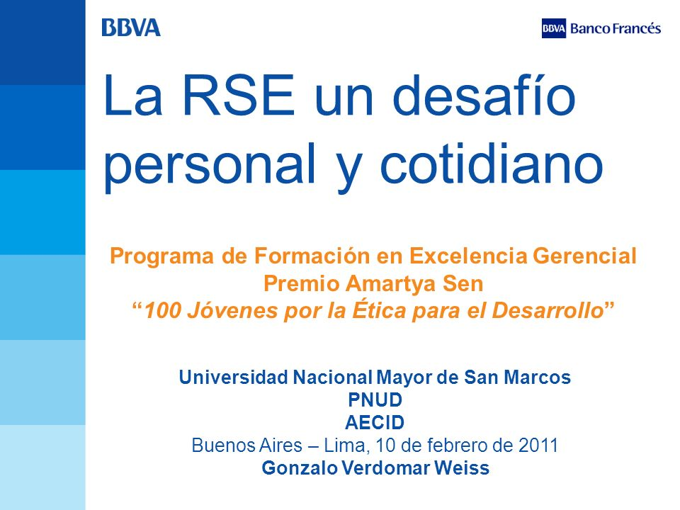 Universidad Nacional Mayor de San Marcos Gonzalo Verdomar Weiss