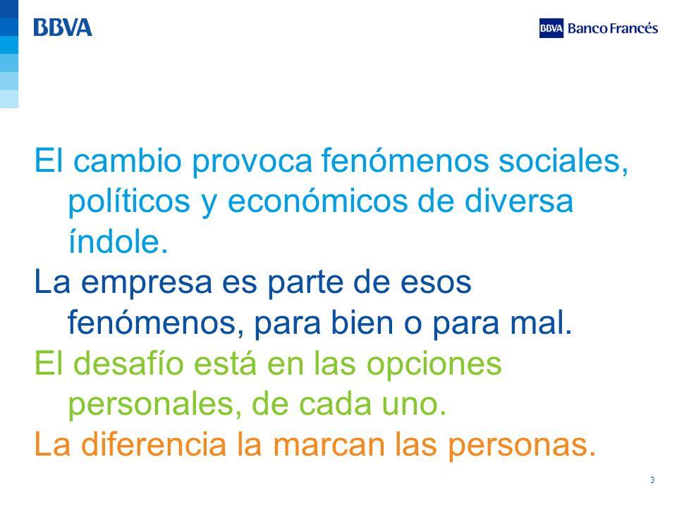 El cambio provoca fenómenos sociales, políticos y económicos de diversa índole.