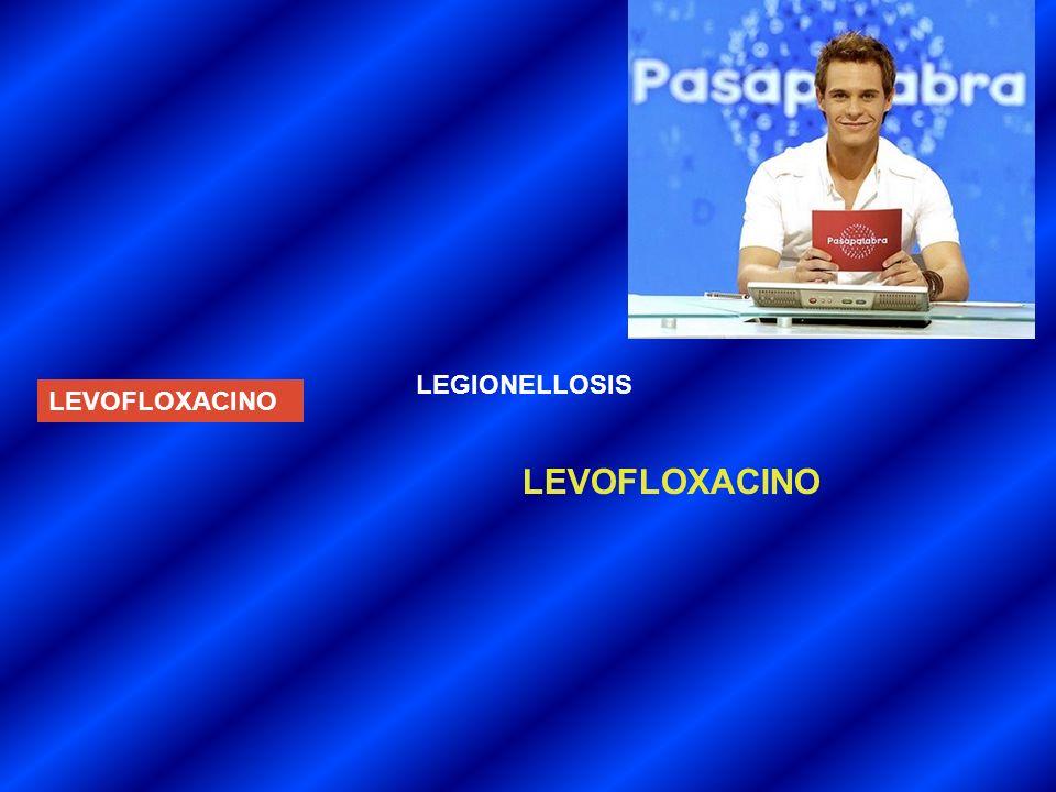 LEGIONELLOSIS LEVOFLOXACINO LEVOFLOXACINO