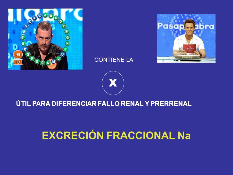 EXCRECIÓN FRACCIONAL Na