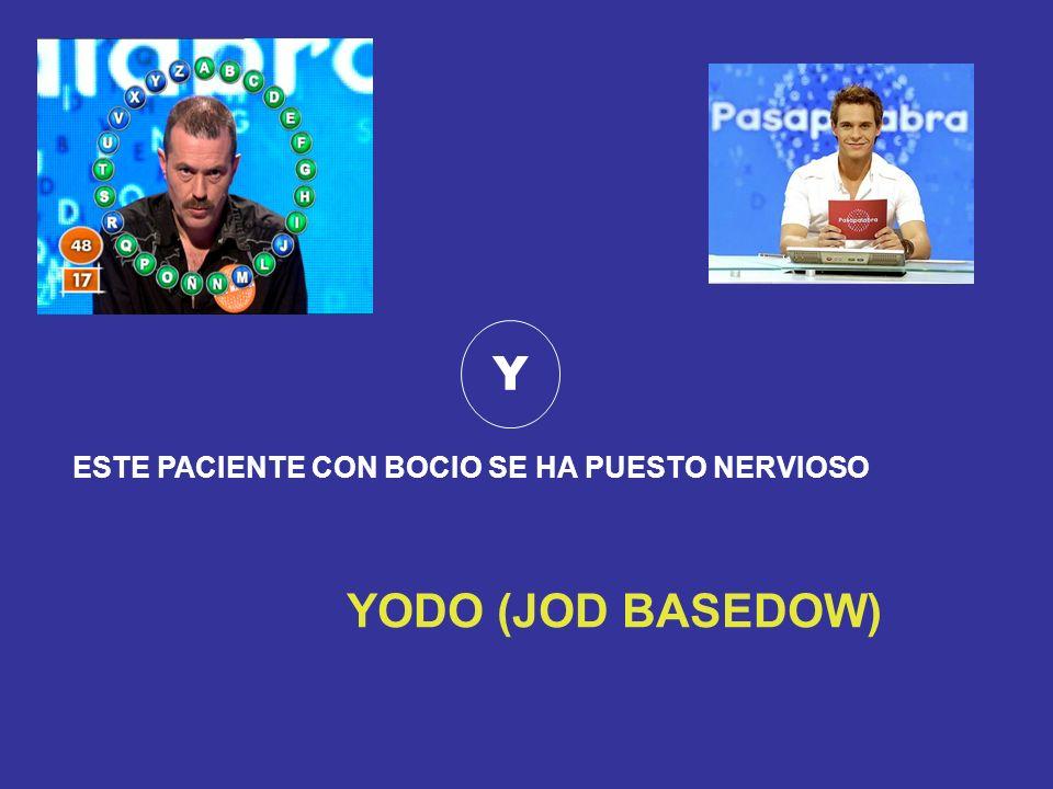 Y ESTE PACIENTE CON BOCIO SE HA PUESTO NERVIOSO YODO (JOD BASEDOW)
