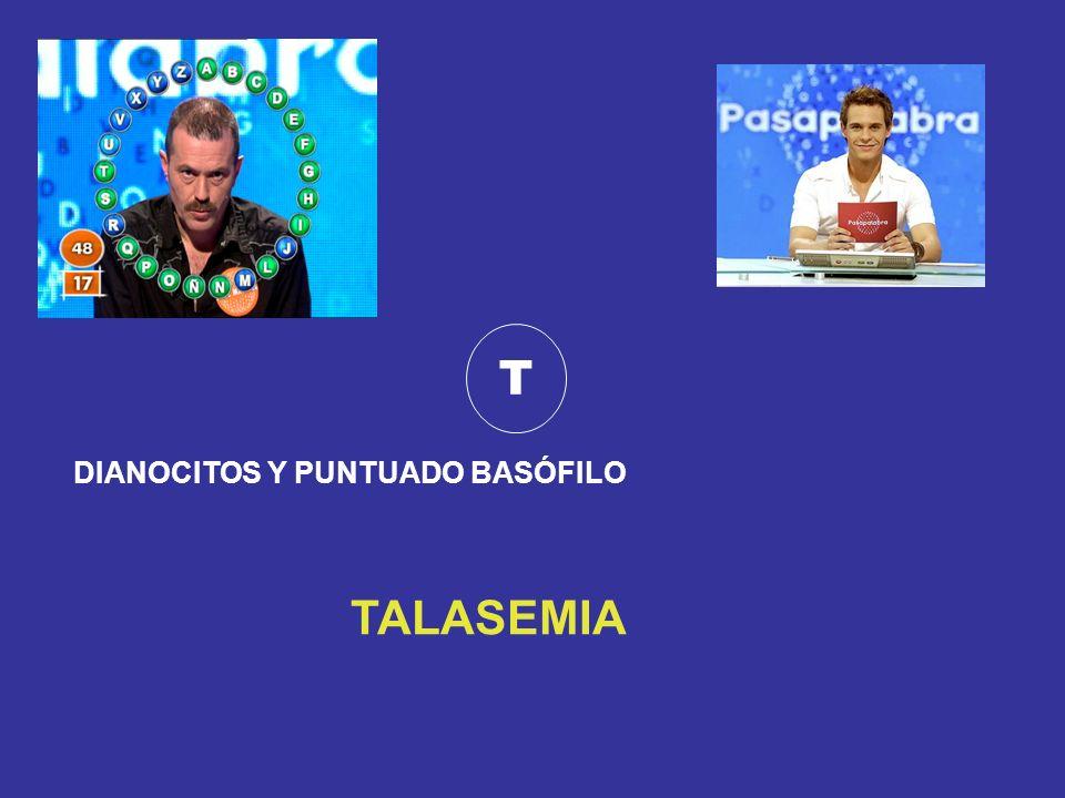 T DIANOCITOS Y PUNTUADO BASÓFILO TALASEMIA