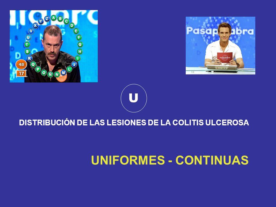 U UNIFORMES - CONTINUAS