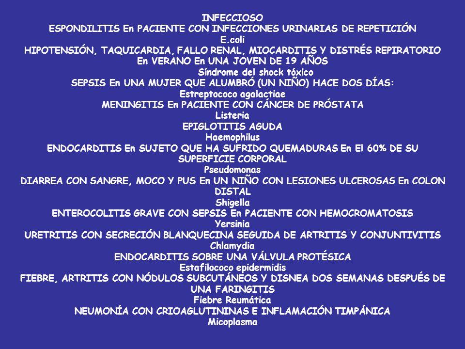 ESPONDILITIS En PACIENTE CON INFECCIONES URINARIAS DE REPETICIÓN