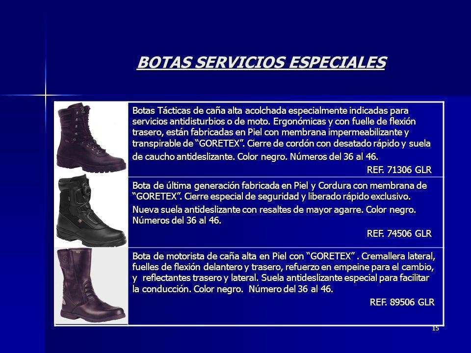 BOTAS SERVICIOS ESPECIALES