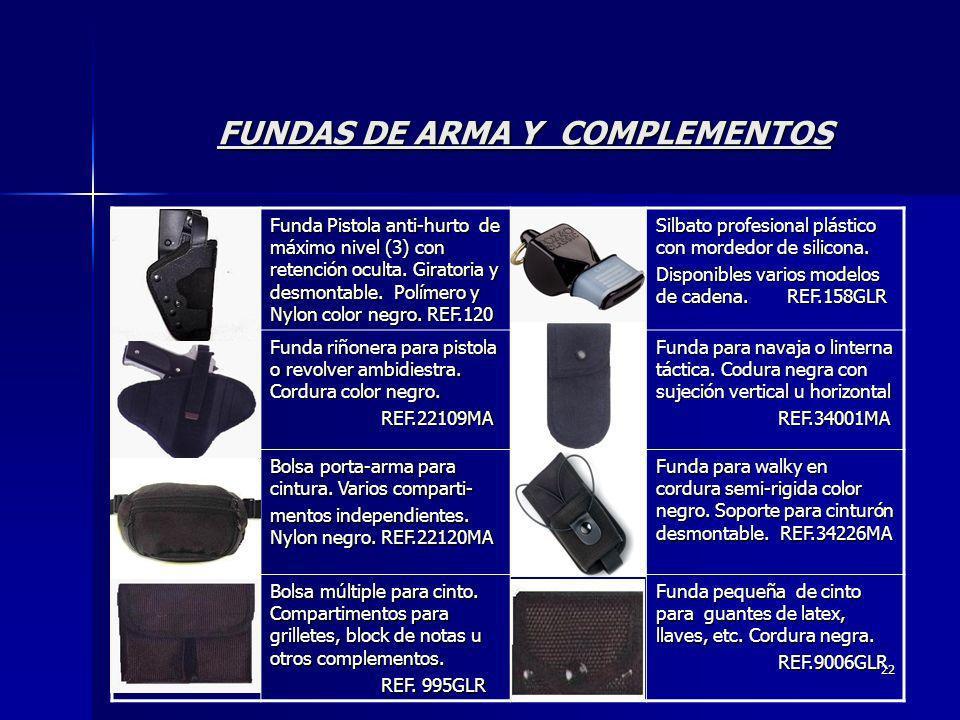FUNDAS DE ARMA Y COMPLEMENTOS