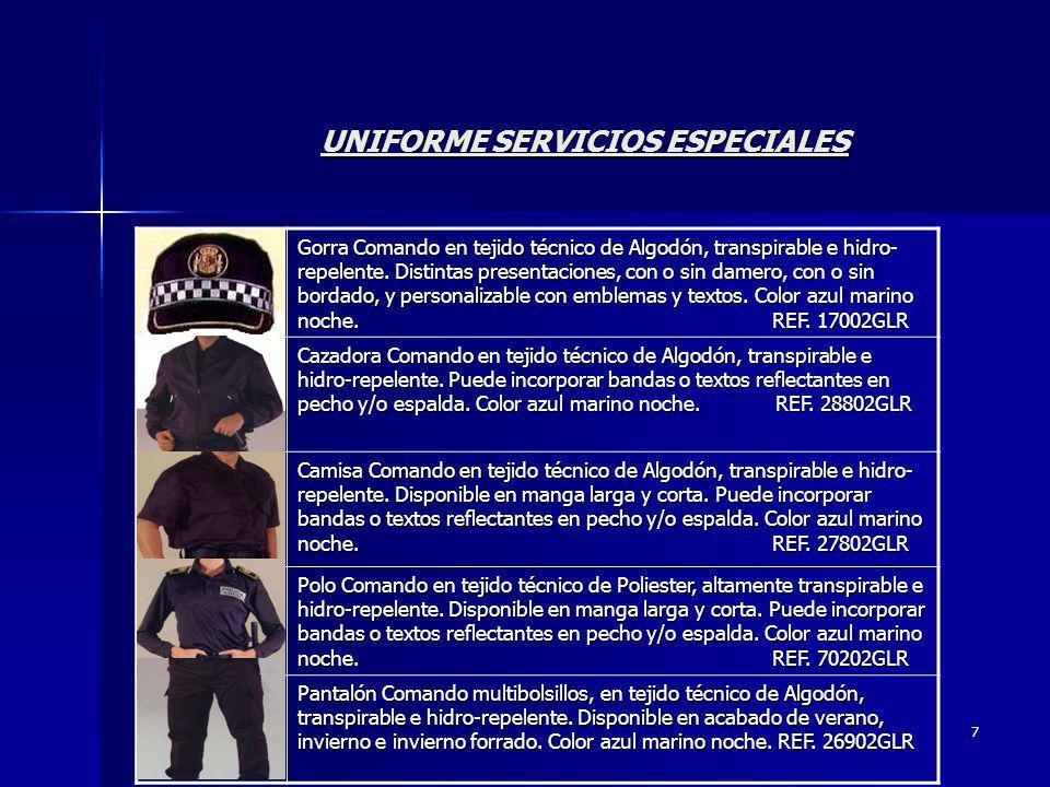 UNIFORME SERVICIOS ESPECIALES