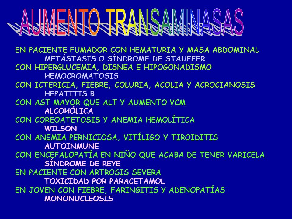 AUMENTO TRANSAMINASAS
